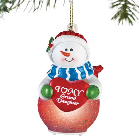 lighted collections lighted family snowman tree ornament by collections etc