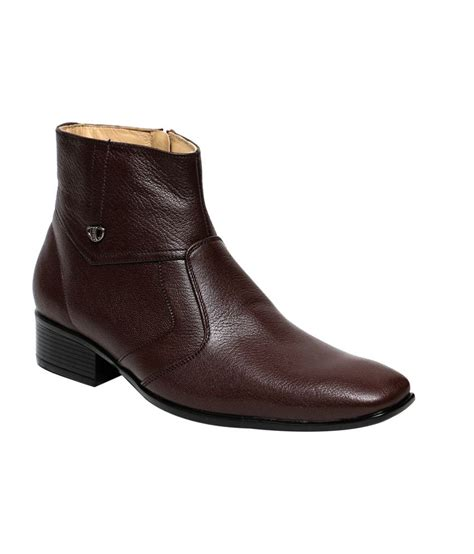 Comfort Boots by C Comfort Brown Leather Formal Boots For Buy C