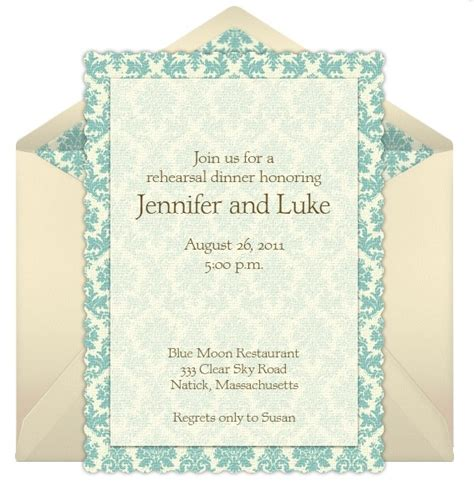 dinner invitation ideas rehearsal dinner invitation wording