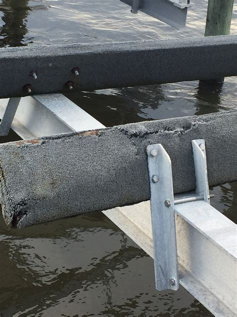 boat lift guide post brackets replacing bunks on boat lift the hull truth boating
