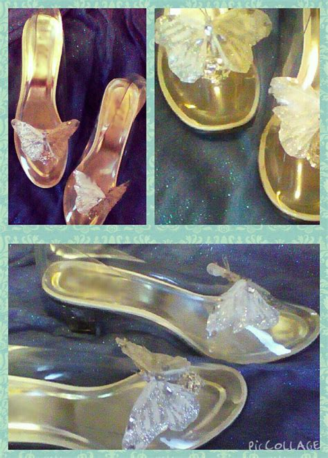 Slipper Sandal Ruangan Keropi Untuk Dewasa cinderella butterfly glass slippers costume wedding disneybound