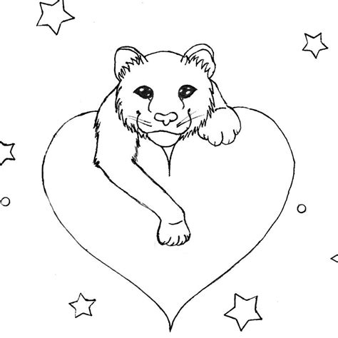 stripeless tiger coloring page mew stripeless tiger outline by ayamewolf93 on deviantart