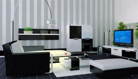wallpaper hitam putih ruang tamu ruang tamu modern kontemporer hitam dan putih rancangan