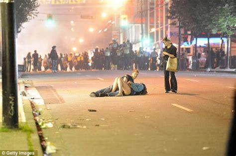 Vancouver Riot Kiss Meme - vancouver hockey riots alexandra thomas and scott jones