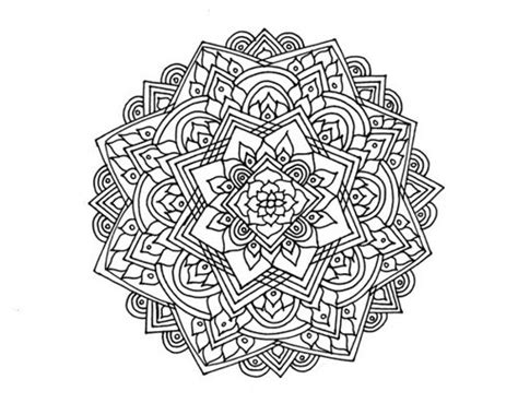 mandala flower coloring pages difficult mandalas para colorear dificiles