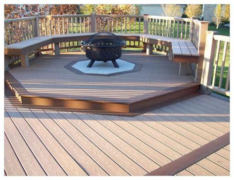 fire pit  wood deck ideas httpwwwwindwishes