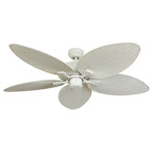 Outdoor Flush Mount Ceiling Fan Shop Palm Coast Tavernier 52 In White Outdoor Downrod Or