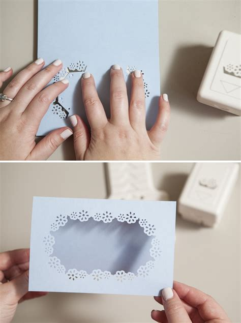 martha stewart diy crafts learn how easy it is to punch your wedding stationary