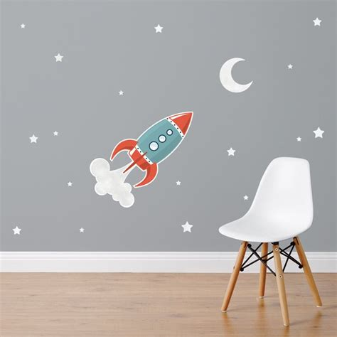 space rocket wall stickers 17 best images about space themed nursery or toddler room on space rocket toddler