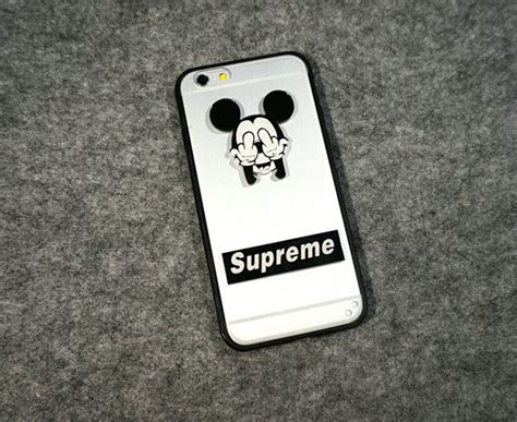 Iphone 7 7 Supreme Cover Casing Hardcase buy wholesale tpu cover disney mickey mouse silicone supreme for iphone 7 plus 5 5