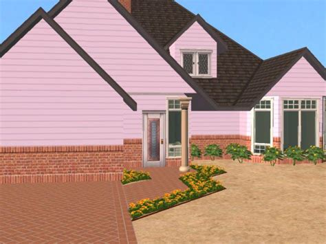 half brick half siding homes mod the sims maxis mixes warm set 5 half brick half