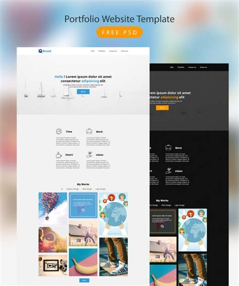 Portfolio Website Template Free Psd Download Download Psd Free Ux Portfolio Template