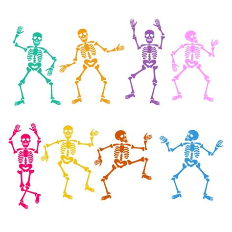 skeleton clipart skeletons cuttable design