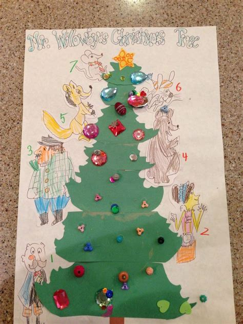 Mr Willowby S Christmas Tree Story Sequence Craft Mr Mr Willowby S Tree Coloring Pages
