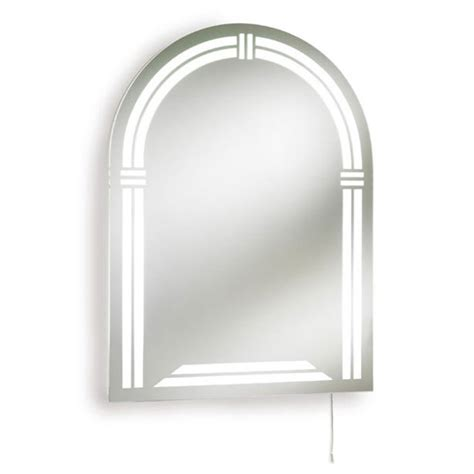 arched bathroom mirror ultra reflex arched backlit mirror lq304 at victorian