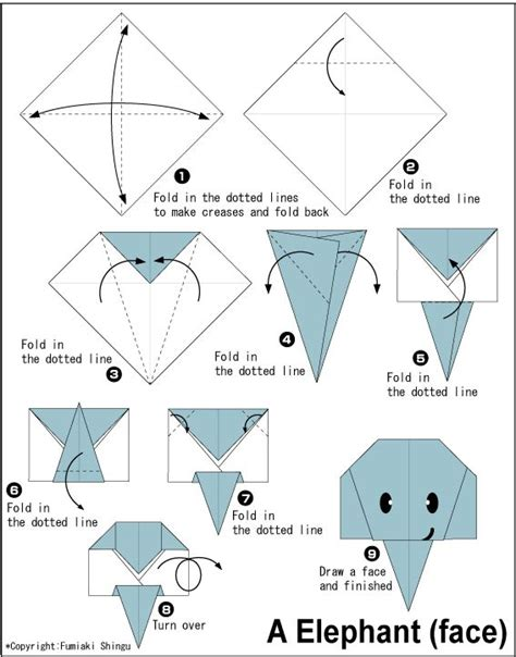 Origami Patterns Easy - 25 best ideas about origami elephant on