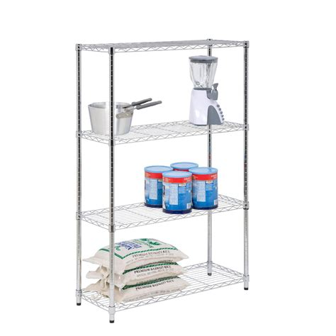 honey can do shelving honey can do 4 tier chrome shelving unit 250lb