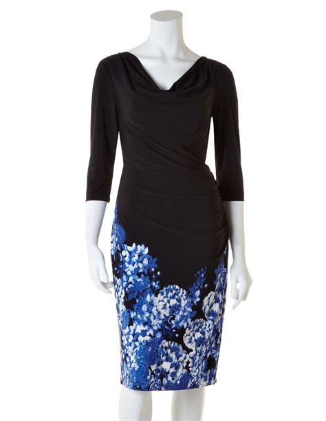 Hem Blus blue floral hem shift dress cleo