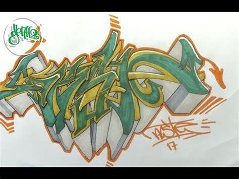 como hacer  graffiti wild style youtube