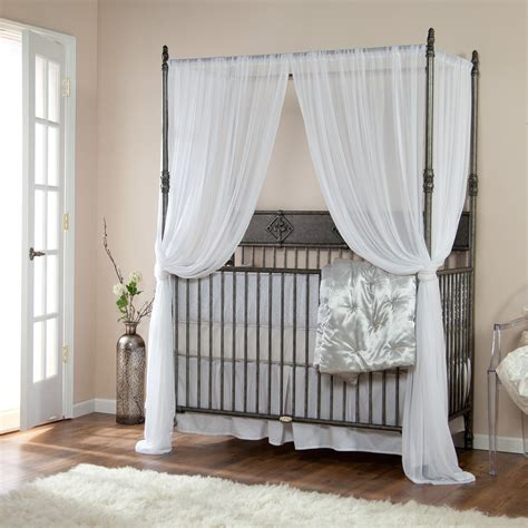 Sumptuous White Curtains For Crib Shade In Modern Baby