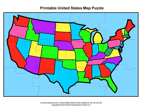 United States Puzzle Map by Pics Photos United States State Map Puzzle
