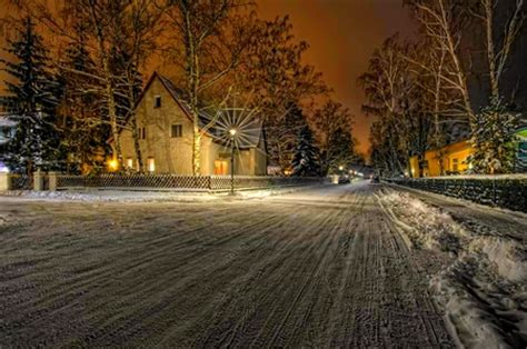 Snowy Nights In Big Backyard by Snowy Winter Nature Background Wallpapers On