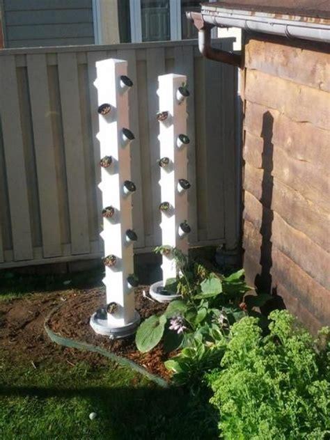 vinyl fence post hydroponic vertical garden
