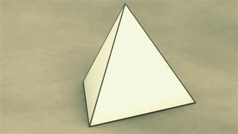 How To Make A Shaped Paper - net of solid shapes tetrahedron