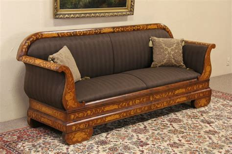 antique sofas for sale sold dutch inlaid marquetry 1860 antique sofa newly