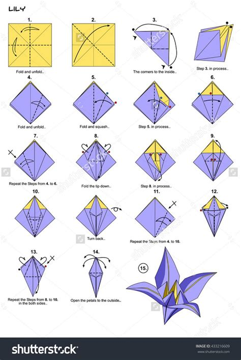 Origami Flower Directions - origami origami origami tulip flower with pictures