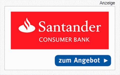 santander bank tagesgeld santander sunnycard kostenlose kreditkarte mit