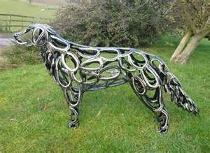 Welded Fire Pit by 10 Amazing Horseshoe Sculptures
