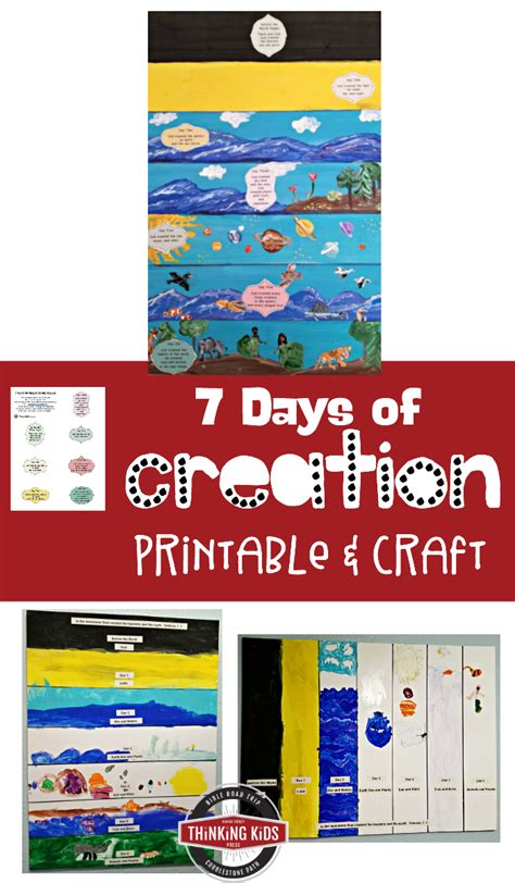 what are the 7 days of seven days of creation project with free printable
