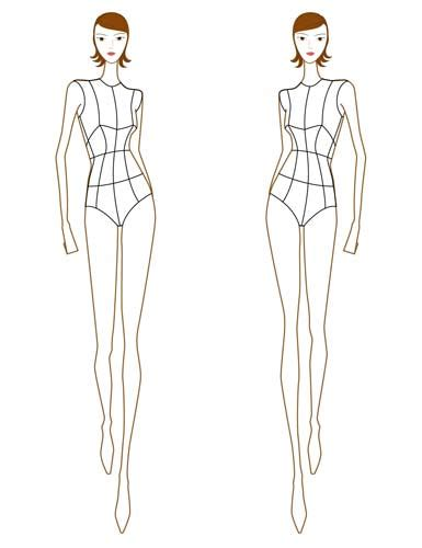 fashion illustration model templates fashion design model templates