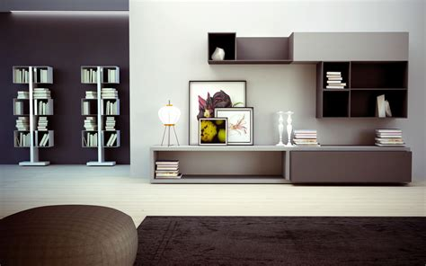 wohnzimmerwand design wall storage units and shelves design architecture and