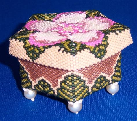 beaded trinket box 182 best beaded boxes and vessels images on