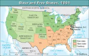 Map Of Slave States by Slave And Free States In 1861 Zoom