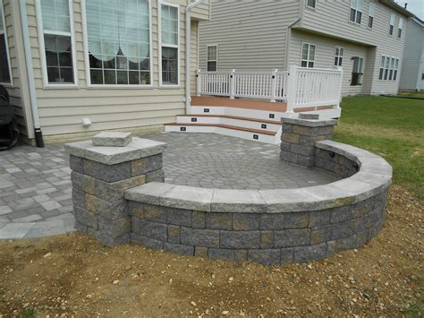 Designs For Patio Pavers Maryland Deck Builders The Deck Amp Fence Company