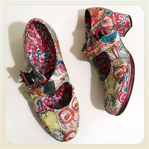 Decoupage Shoes With Paper - decoupage collage workshops gabriela szulman