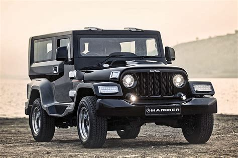 mahindra jeep price list mahindra thar customised by dc is called hammer priced rs