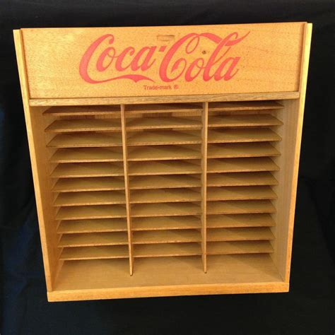 Cassette Shelf by Vintage Coca Cola Wood Cassette 8 Track Storage Wall