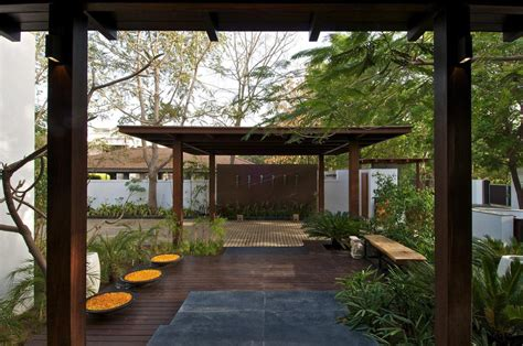 courtyard house in ahmedabad india home design pergola decking courtyard house by hiren patel architects