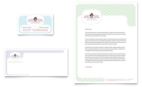bakery amp cupcake shop business card amp letterhead template