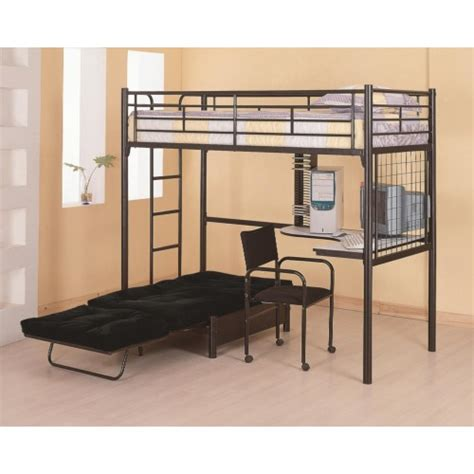 bed desk coaster bunks loft bunk bed with futon chair desk