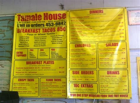 tamale house tamale house menu in austin tx such a great place to eat yelp