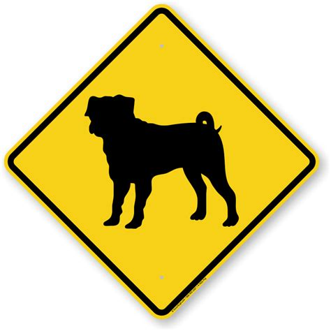 pug sign pug symbol sign guard sign beware sign sku k 7633 pug