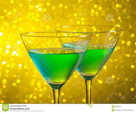 green cocktail black background glasses of green cocktail stock image image 35589121