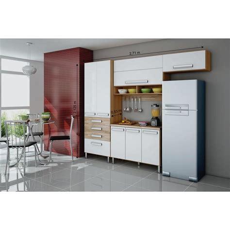 armario bartira cozinha compacta bartira carla 7 portas e 4 gavetas