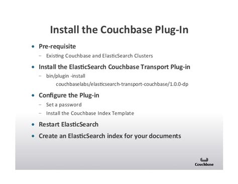 Using Elasticsearch And Couchbase Together To Build Large Scale Appli Elasticsearch Index Template