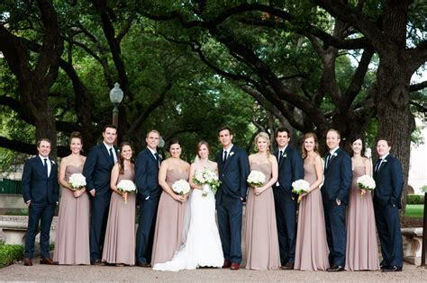 Loved the navy blue and soft dusty pink wedding party
